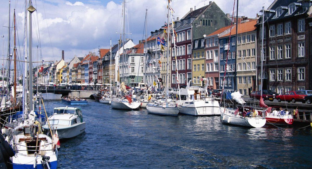 Boats in Copenhagen, Denmark-min